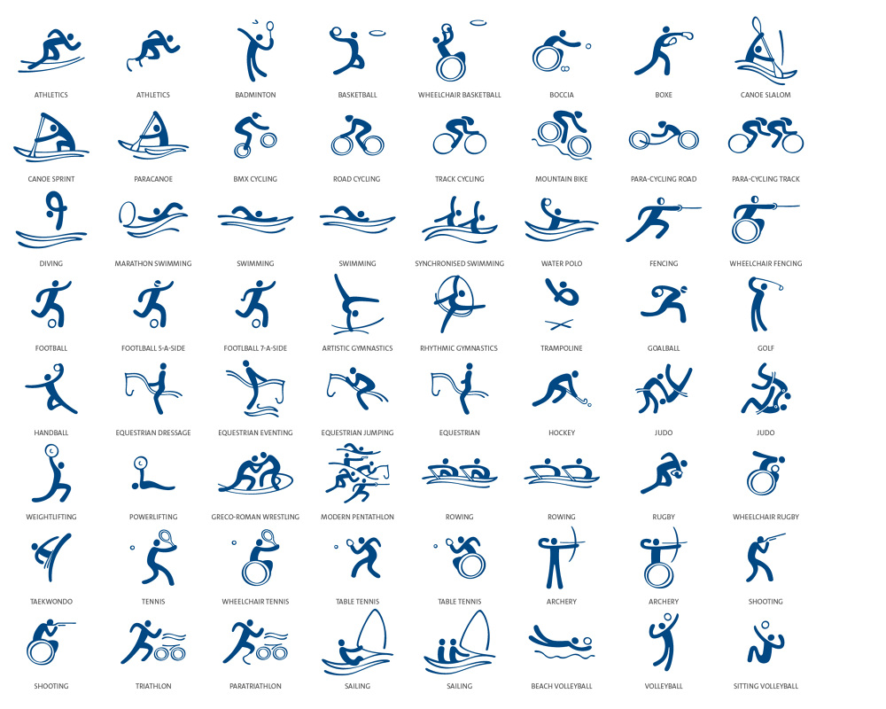 sport pictograms juliahaiadcom